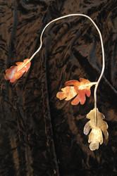 Metalart Oak leaf neck art