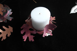red copper candleholder
