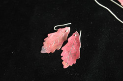 cherry red copper colored earrings