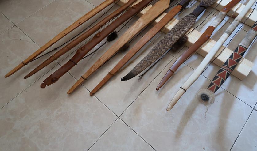 חלק מהקשתות המסורתיות שהכנתי