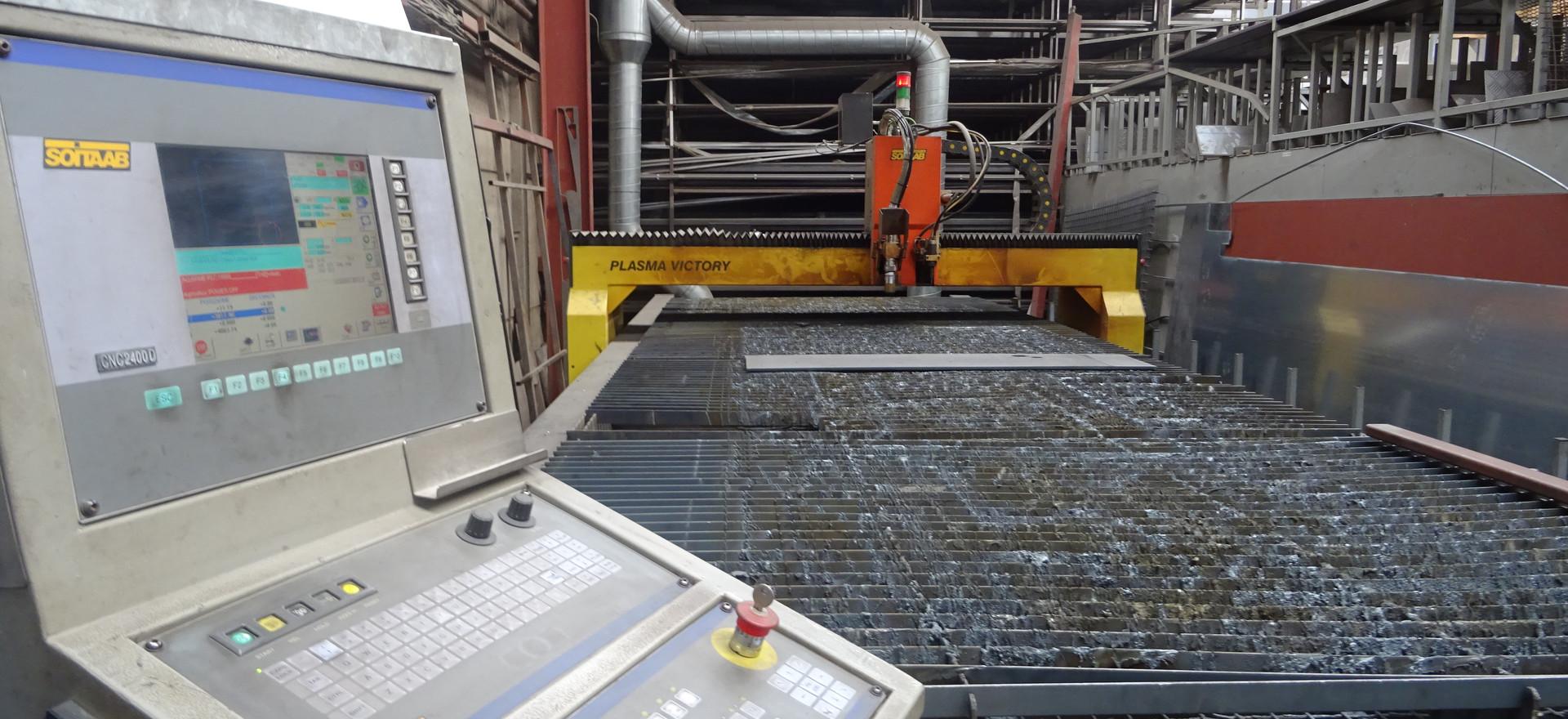 Gestuurde plasmatafel 6000 x 2000 x 20 mm