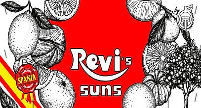 Revis Suns oranges and clementines brand by Tamarit Export.  Revis Suns marca de naranjas y clementinas de Tamarit Export