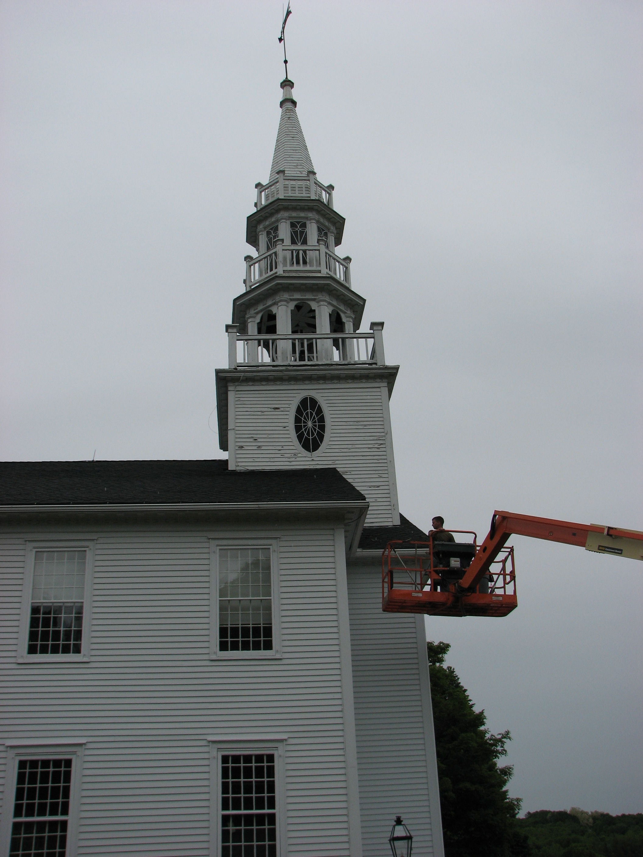 Warren Church Steeple Roof