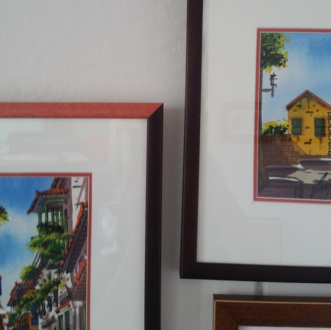 Unique multi coloured frames to add a little pop of fun.