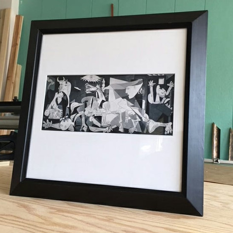 Angles, angles, angles! The perfect re-purposed frame for this white-matted Picasso print.