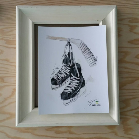 A simple yet elegant re-purpose frame for this lovely memory of a print! (before)