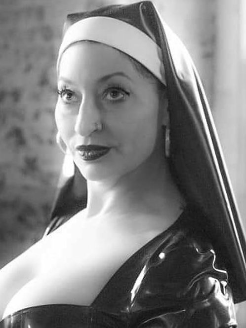 Latex nun headress