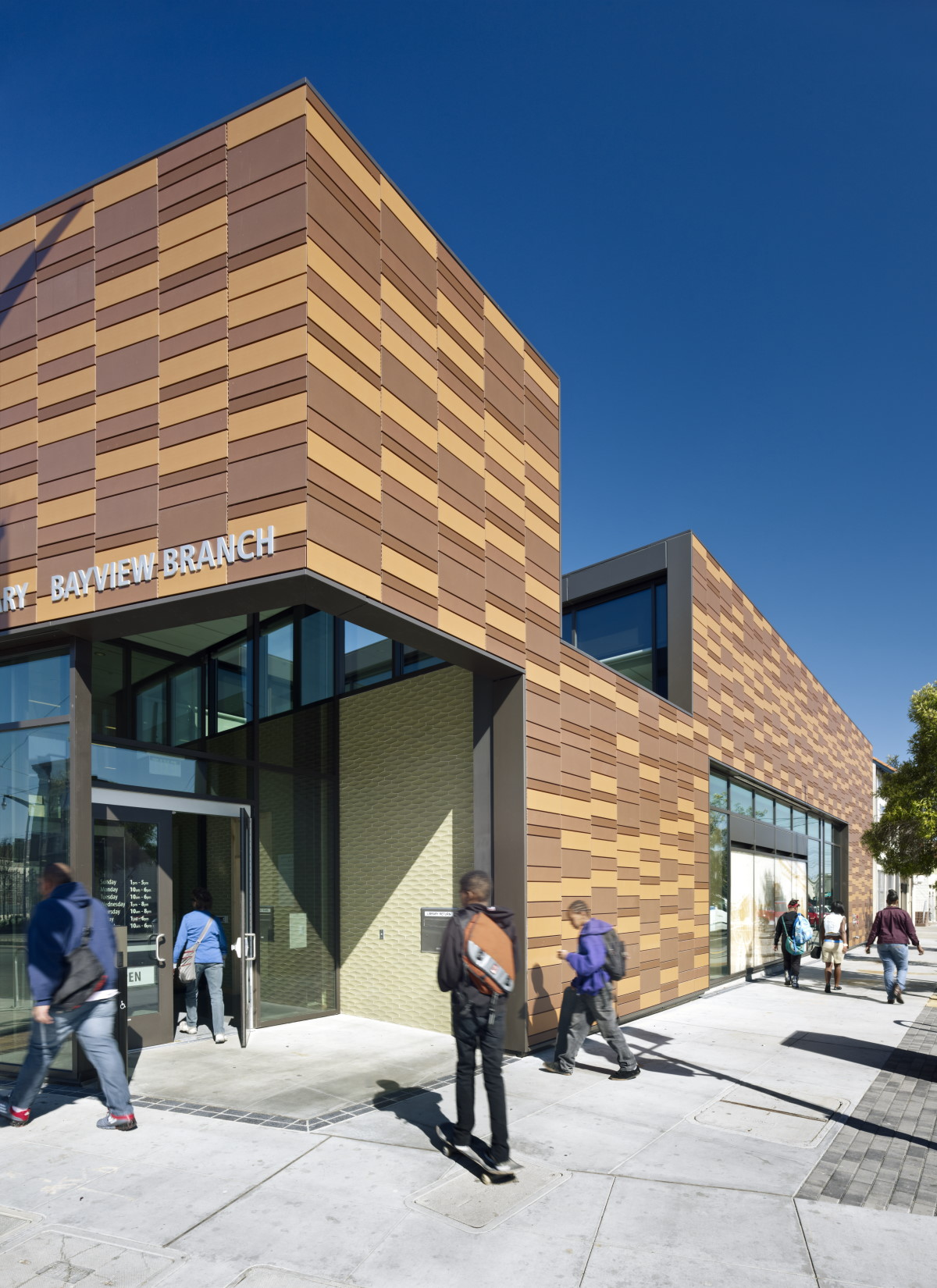 terracotta rainscreen Bayview Library, C