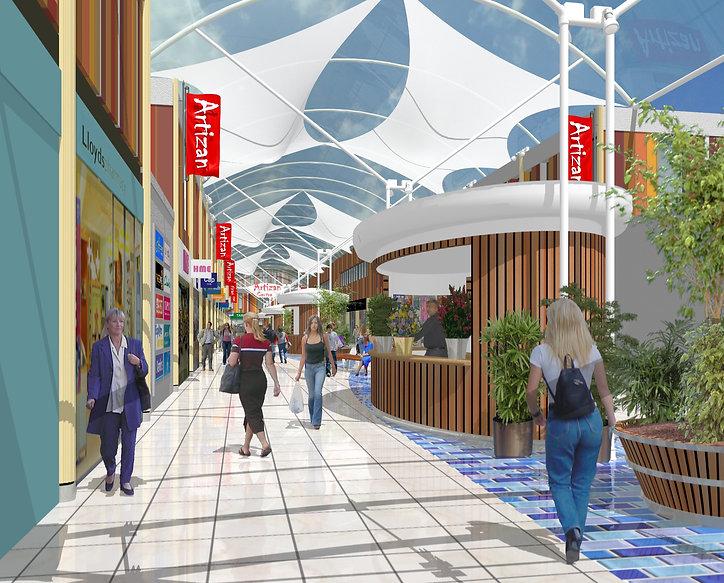Shopping Centre Design Rendering