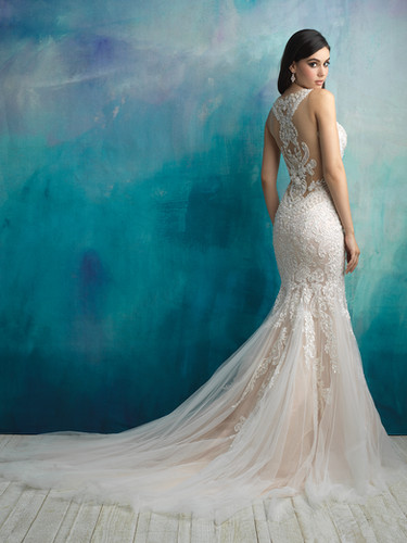 Beaded Fit And Flare Wedding Dress