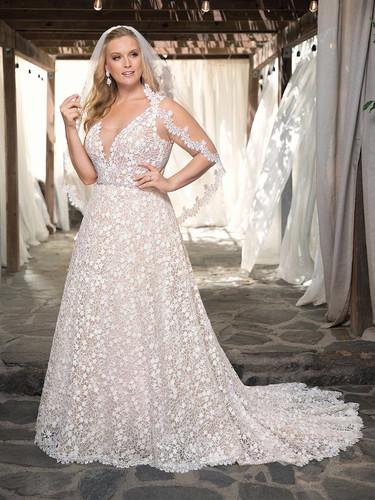 CT Bridal Shop, Bridal Shop CT, lace a-line wedding dress, plus size wedding gown