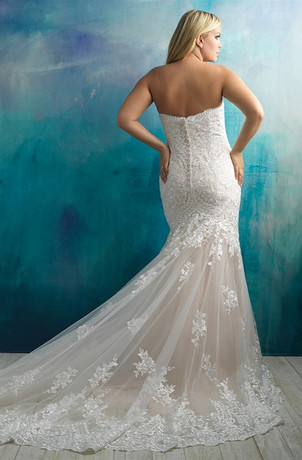 Plus Size Lace Fit And Flare Wedding Dress