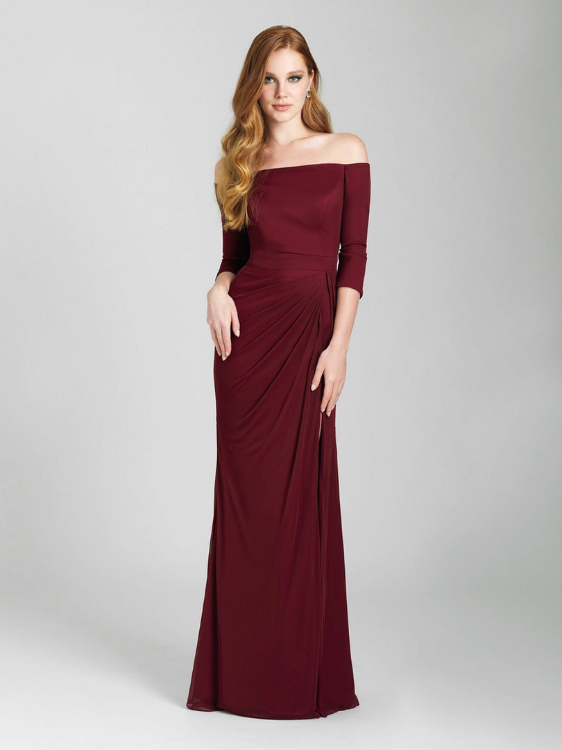long sleeve bridesmaids dress