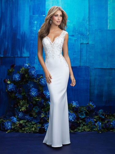 Fitted Crepe Wedding Dress