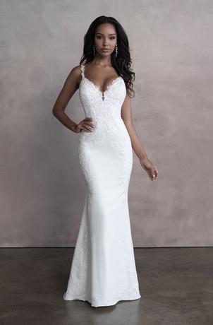 clinton wedding dress shop, cranston wedding dress shop, crepe wedding dress, simple wedding dress, RI wedding dress shop
