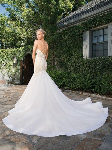 RI Bridal Shop, Bridal Shop RI, amazing train, fit and flare wedding dress, beaded wedding dress