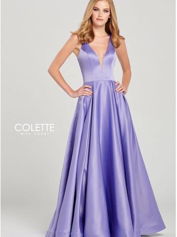 modest lavendar purple ball gown prom dress