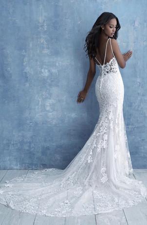 low see through back wedding dress