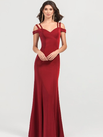 red off the shoulder fitted plus size prom dress
