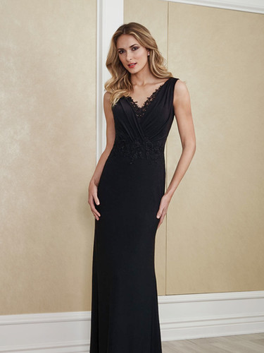 Crepe and Lace Mother of the Bride dress