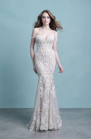stunning bride, off the shoulder fit and flare wedding dress, east lyme bridal shop, warwick bridal shop