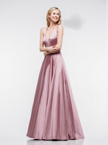 cappucino modest ball gown prom dress