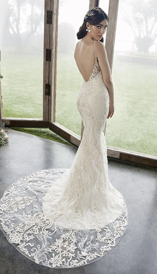 RI Bridal Shop, Bridal Shops in RI, low back wedding dress, lace wedding dress