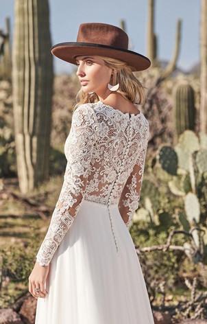 CT Bridal Shop, Bridal Shop CT, Boho Wedding Dress, low back wedding dress, long sleeve wedding dress