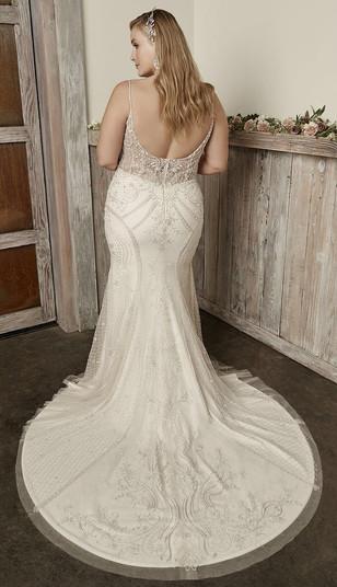 RI Bridal Shop, Rhode Island wedding dress shop, plus size wedding dress, low back wedding dress