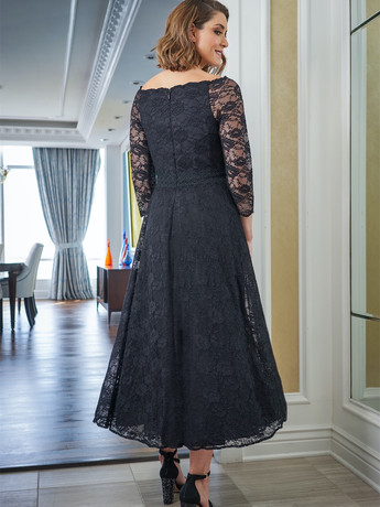 lace tea length mother of the groom dress
