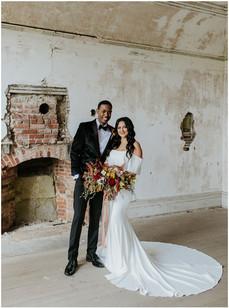 Newport Wedding Dress Shop, Off the shoulder wedding gown, plain wedding dress, boho wedding dress