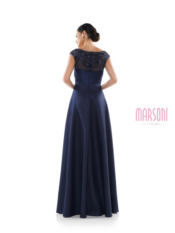Navy blue mother of the groom dress