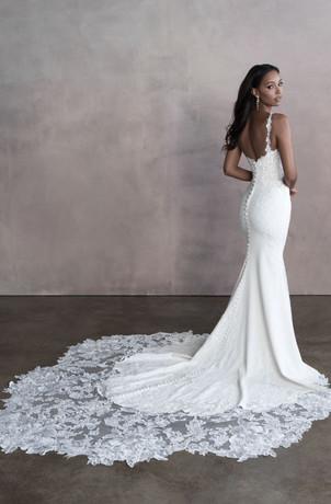 mystic wedding dress shop, CT bridal shop, mystic bridal shop, sheath wedding dress, crepe wedding gown
