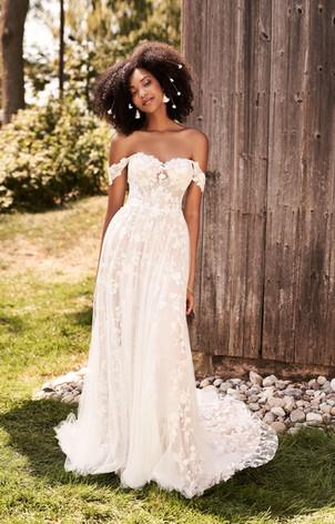 rhode island wedding dress shop, ri wedding dress, norwich wedding dress shop, a-line wedding dress, off the shoulder wedding dress.
