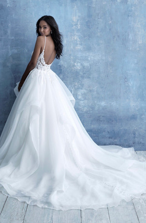 Beaded Strappy Ballgown Wedding Dress
