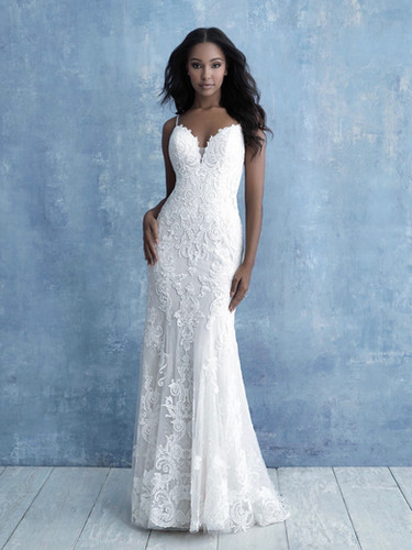 Lace fitted allure wedding dress