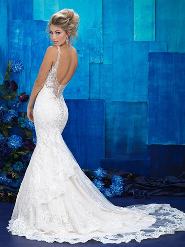 Lace Fit And Flare Wedding Dress