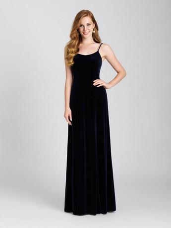 long velvet allure bridesmaid dress