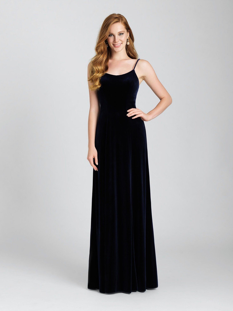 long velvet allure bridesmaid dress