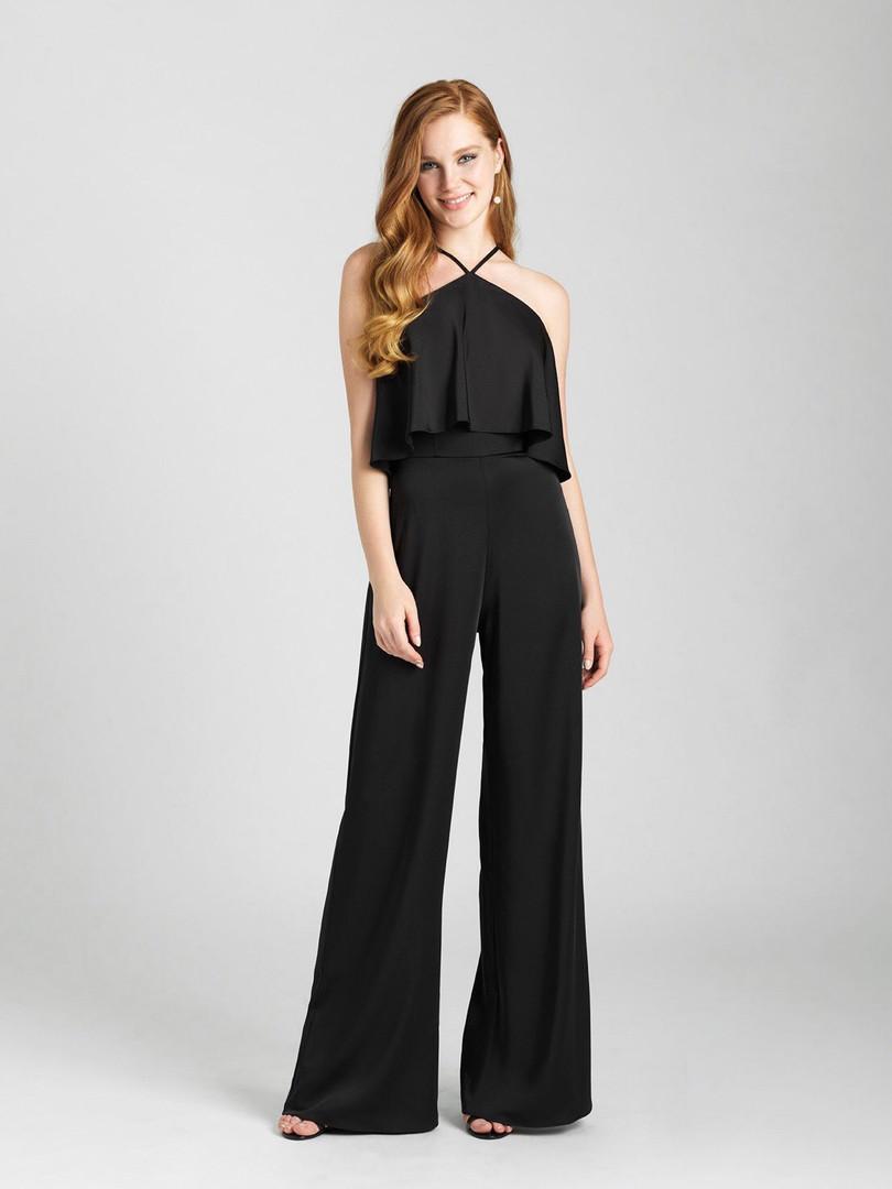 black bridesmaid jumpsuit