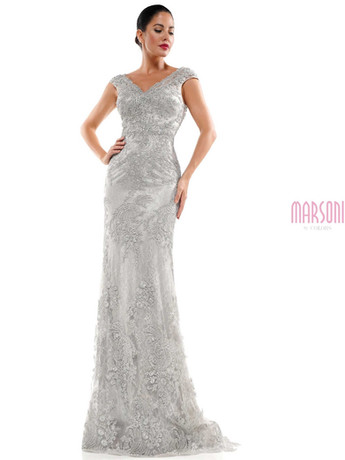 fitted lace mother of the bride dress