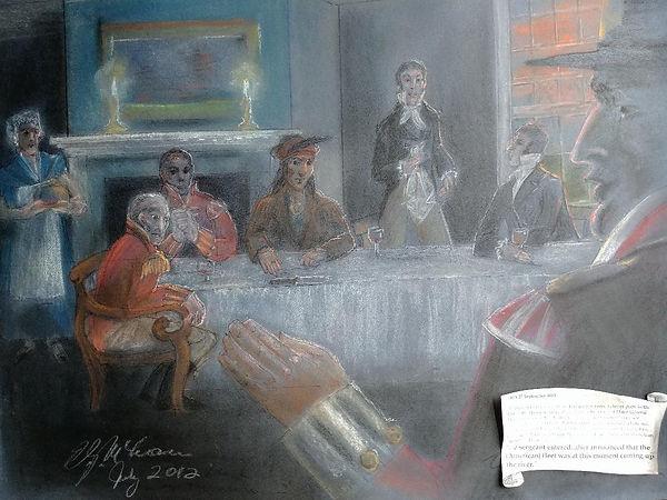 _Pastel drawing of Tecumseh's dinner in