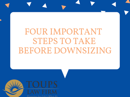 Four Important Steps to Take Before Downsizing