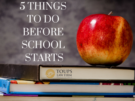 5 Things To Do Before School Starts