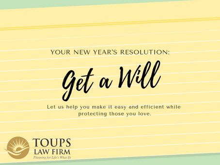 Your New Year's Resolution: Get a Will