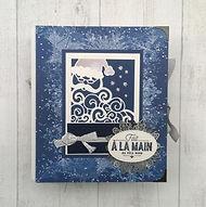 calendrier de l'avent,fait à la main au pôle nord,père noël,sapin,chaussette,renne,flocons,tons pastels