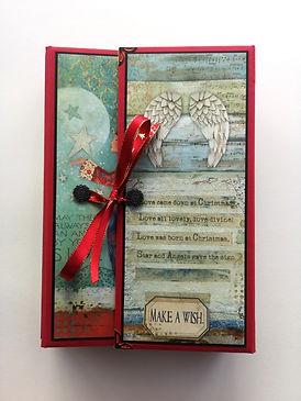 album,scrap,photos,stamperia,make a wish,noël,cadeau,sapin,hiver