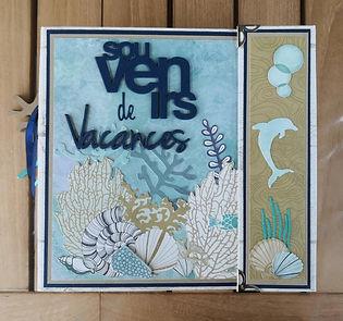 album mer, vacances, souvenirs, papiers kaiserkraft, deep sea