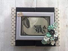 album,scrap,photos,mariage,fleurs,dentelle,alliances,noir,gris clair,gris foncé,blanc,vanille