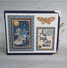 album,scrap,photos,naissance,mon ange,stamperia,blue notes,bébé,fille,garçon